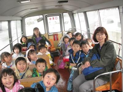お泊まり会高栄湯へのバスの中