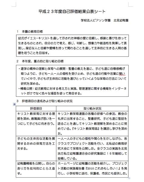 自己評価結果シート2011-1